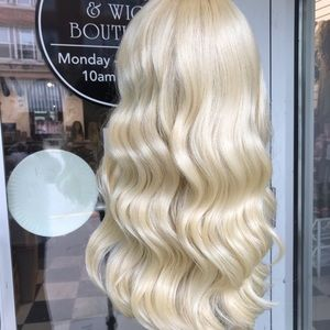 Accessories - Wig Deep Wave Blonde 613 With Bangs